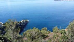 旅行到摩纳哥,巨大海视图 库存照片