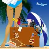 旅行包 库存例证