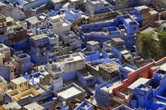 旅行印度: 乔德普尔城-蓝色城市 库存图片