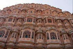 旅行印度: 风宫殿在斋浦尔,拉贾斯坦 免版税库存图片