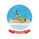 旅行向圣诞节的欧洲 快活的圣诞节 库存图片