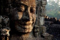 旅行向柬埔寨-古庙废墟 库存图片
