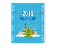 旅行向欧洲为冬天 快活的圣诞节 库存照片