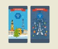 旅行向欧洲为冬天 快活的圣诞节 图库摄影