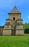 旅行向罗马尼亚:Sucevita修道院塔  免版税库存照片