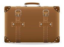 旅行向量例证的老手提箱 免版税图库摄影