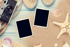 旅行和假期照片框架和项目 图库摄影