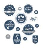 旅行和巡航游览印刷术设计  免版税图库摄影
