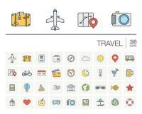 旅行和旅游业颜色传染媒介象 库存照片
