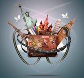 旅行和旅行 免版税库存图片
