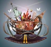 旅行和旅行 免版税图库摄影
