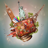 旅行和旅行 免版税库存照片