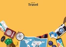 旅行和旅途Infographic背景 传染媒介平的设计Te 库存例证