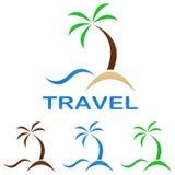 旅行商标设计模板 库存例证