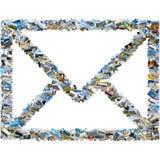 旅行图象拼贴画-邮件信封 免版税库存照片