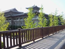 旅行在中国,寺庙庭院 免版税库存照片