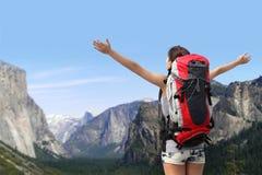 旅行在优胜美地公园 图库摄影