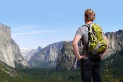 旅行在优胜美地公园 免版税库存图片