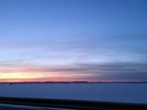 旅行在冬天 库存图片