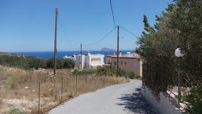 旅行在希腊乡下附近 免版税库存照片