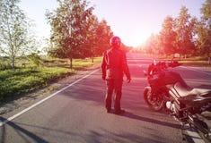 旅行在摩托车 免版税库存图片