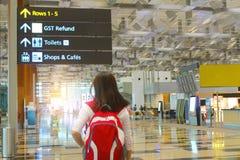 旅行在机场 库存图片