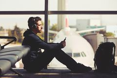 旅行在机场 免版税库存照片