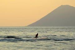 旅行在manado,北部苏拉威西岛,印度尼西亚的Watersports 免版税库存照片