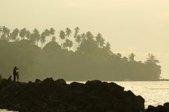 旅行在manado,北部苏拉威西岛,印度尼西亚 图库摄影