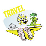 旅行太阳海海滩 向量例证