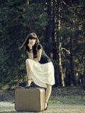 旅行女孩 免版税图库摄影