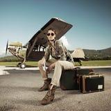 旅行妇女 免版税库存照片