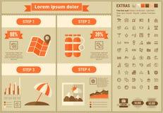 旅行平的设计Infographic模板 免版税库存照片