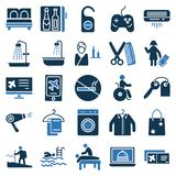 旅行并且游览传染媒介象非常时髦和有用为旅行的项目 向量例证