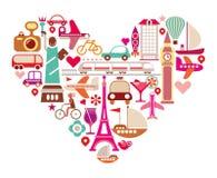旅行心脏 库存图片