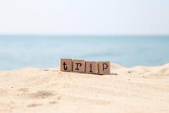 旅行想法和旅行海滩 免版税库存照片