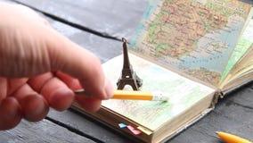旅行成交,假期,冒险想法 为您的旅途做准备 股票录像