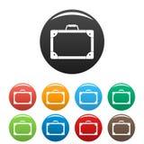旅行手提箱象集合颜色 库存例证