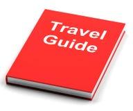 旅行指南显示关于旅行的信息 免版税库存照片