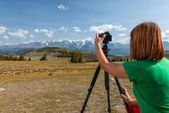 旅行摄影师 库存照片