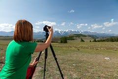 旅行摄影师 免版税库存照片