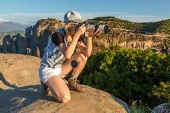 旅行摄影师 图库摄影