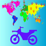 旅行摩托车象,传染媒介例证 库存图片