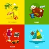 旅行方形的概念,动画片传染媒介例证 免版税图库摄影