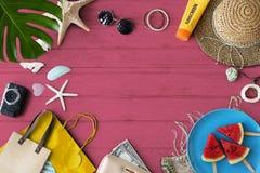 旅行旅行假期假日放松海岸概念 免版税图库摄影