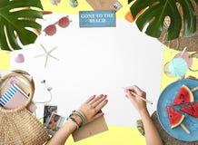 旅行旅行假期假日放松海岸概念 免版税库存照片