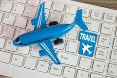 旅行是一点击  免版税库存图片