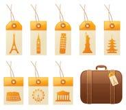 旅行标记 免版税库存照片