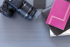 旅行桌面 图库摄影