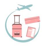 旅行概念例证 免版税图库摄影